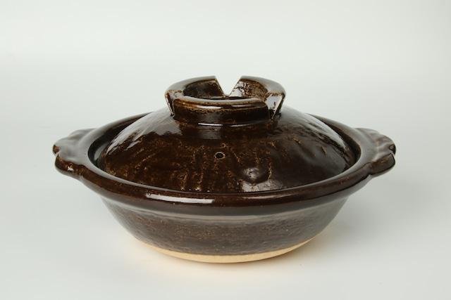 雲井窯8寸土鍋(飴)〈2~3人用〉信楽焼
