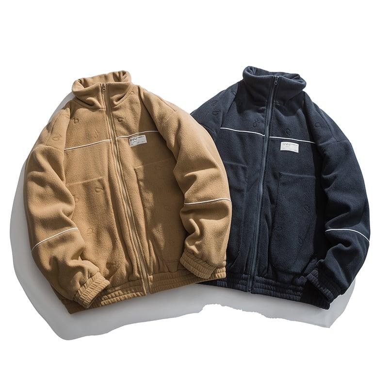 【UNISEX】スタンドアップカラー ボア フリース ジャケット【2colors】UN-621
