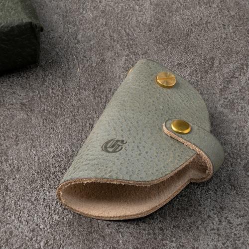 ミニマムキーケース スマートキー対応 | ギフト 革婚式 国産ヌメ革 ブラック
