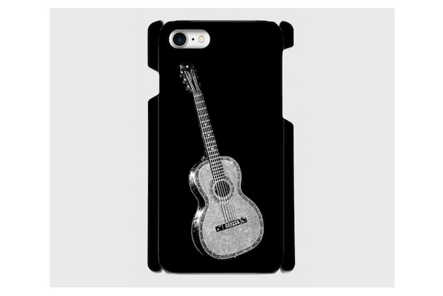 (iPhone用)ギターのスマホケース(黒)