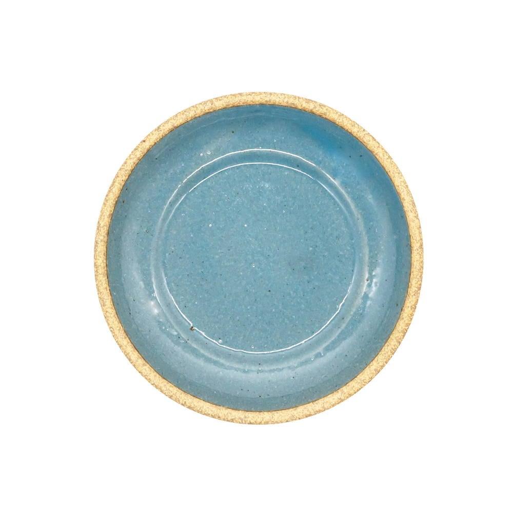 萬古焼 藍窯 スモールプレート 小皿 取り皿 直径約15cm 「エスタ Esta」 赤土ブルー AGM-200112