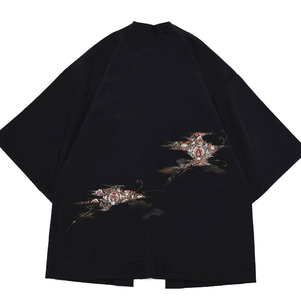 """Japan Vintage  HAORI cardigan """"和モダン"""" 黒羽織"""