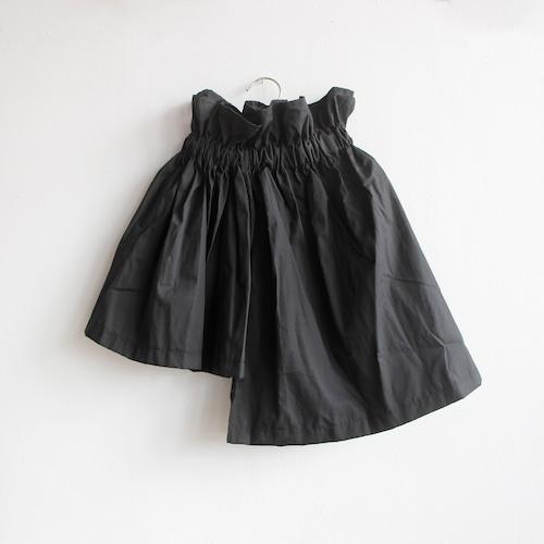 《UNIONINI 2020SS》asymmetry skirt / black