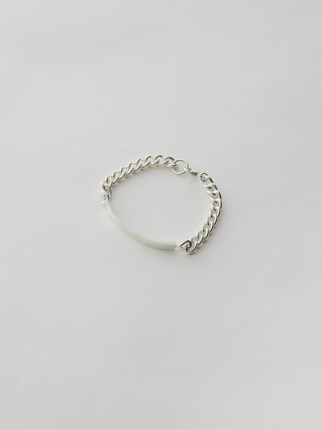 WEISS Plate Chain Bracelet Silver wei-brsv-16
