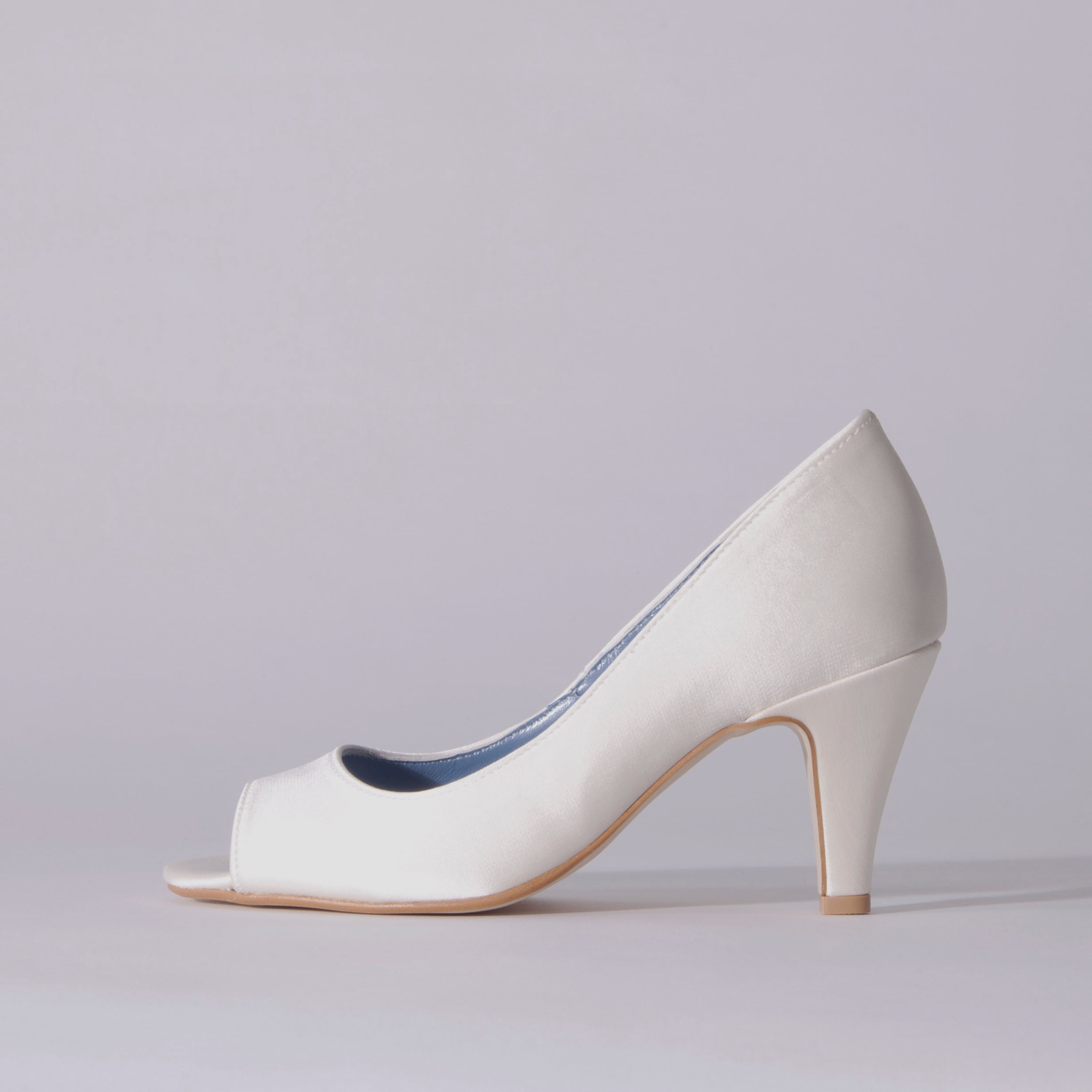 Satin / Open Toe / 7cm / WH 【7003 WH】