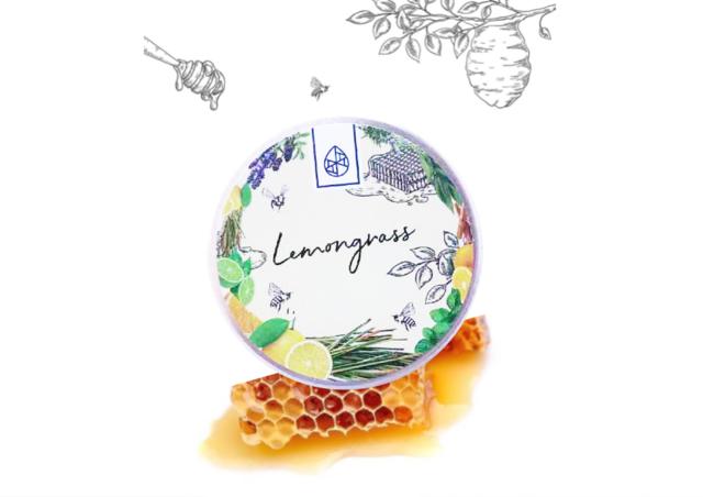【信州産天然アロマ香る】蜜蝋(みつろう)クリーム【レモングラス】