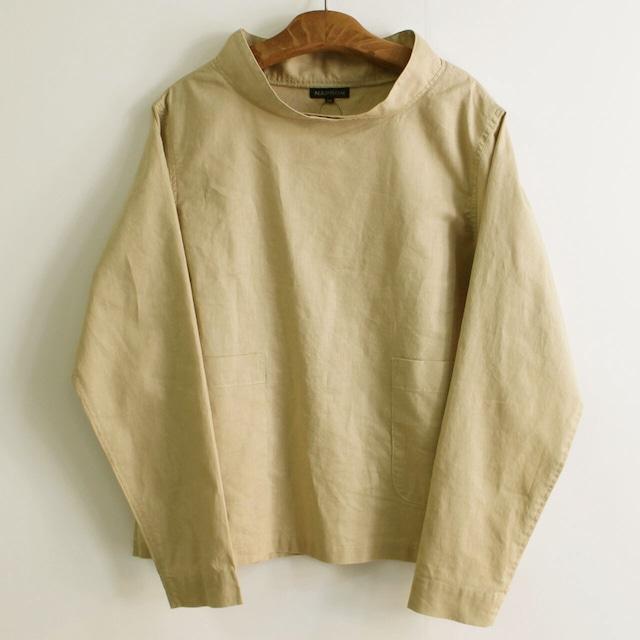NAPRON  ナプロン SMOCK WORK  SHIRTS NP-TP15-20S スモックワークシャツ BEIGE  ユニセックスシャツ