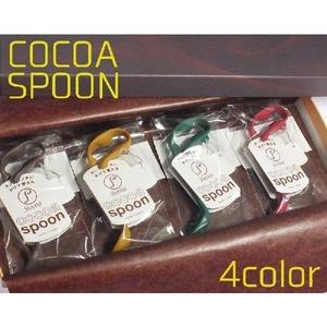 (濃い4色組)記念日 贈り物 パーティグッズ カップスプーン&マーカー/クリップ式ココアスプーンギフト箱入り