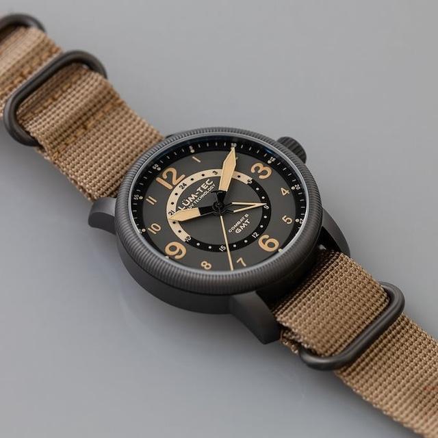 【世界限定500本】COMBAT B45 GMT コンバット スイス ロンダ製ムーブメント ミリタリーウォッチ ブラック/グレー メンズ 腕時計【LUM-TEC/ルミテック】