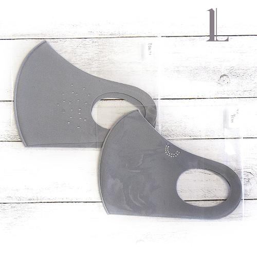 【グレース】デザインウレタンマスク(片側ビジュー)・大人用サイズ/マスク