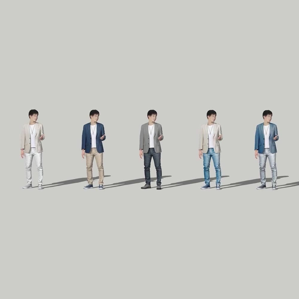 SketchUp素材 3D人物モデル ( Posed ) 107_Sota - 画像2