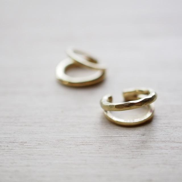 scallopイヤーカフ(brass)