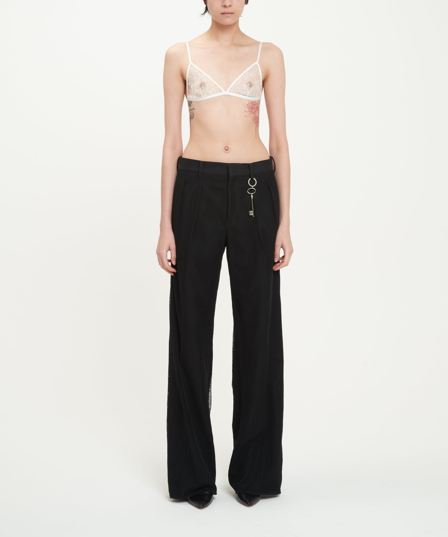 Black Tights Covering PERSONA Trousers