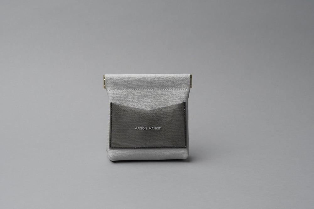 ワンタッチ・コインケース ■ライトグレー・クリアブラック■ - 画像1