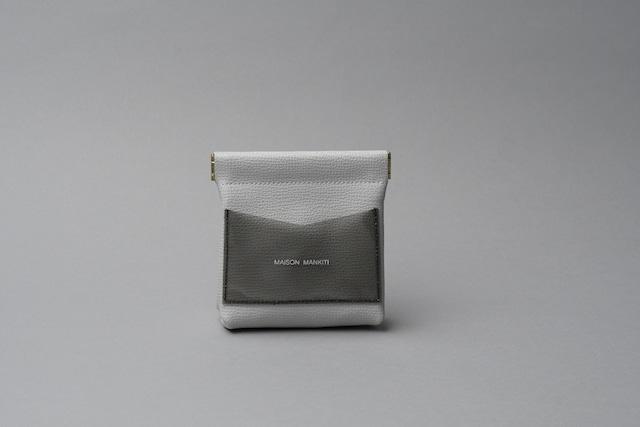 ワンタッチ・コインケース ■ライトグレー・クリアブラック■ - メイン画像