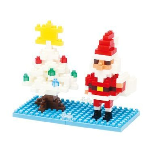【限定生産】nanoblock サンタクロース&クリスマスツリー (NBC-099)