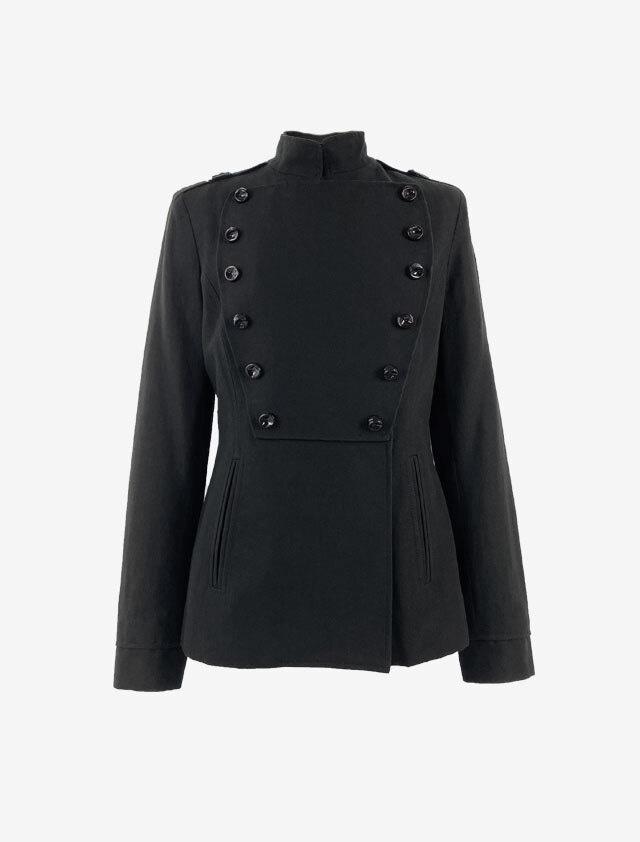GIVENCHY  ジバンシー ミリタリー ジャケット ブラック サイズ:38 (Mサイズ)