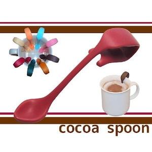 お友達へのプレゼントや誕生日ギフト/コーヒーカフェラテに便利な贈り物クリップ式ココアスプーン(レッド)