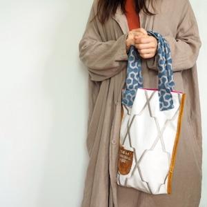 布と革のバッグ Bag-0133