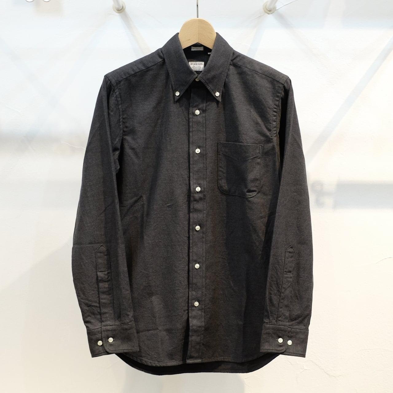 Workers(ワーカーズ) モディファイドボタンダウンシャツ ブラッシュツイル グレー