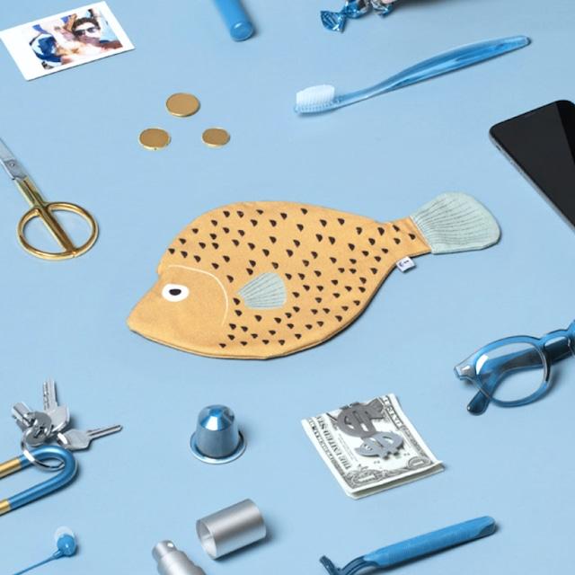 《魚/マトウダイ》おさかなポーチ DON FISHER ドンフィッシャー SAINT PETER スペイン 輸入雑貨 イエロー