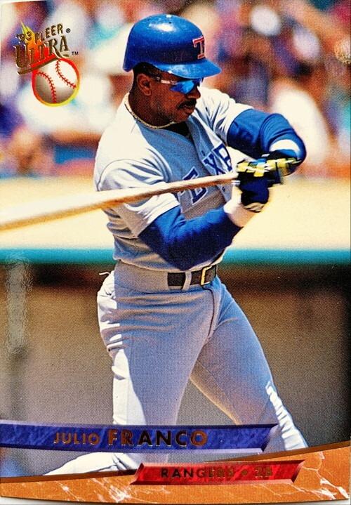 MLBカード 93FLEER Julio Franco #277 RANGERS