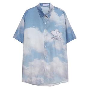 【SELECT】ハートワッペンskyシャツ