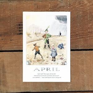 ポストカード「4月@APRIL(いちねんのうた - 04)」