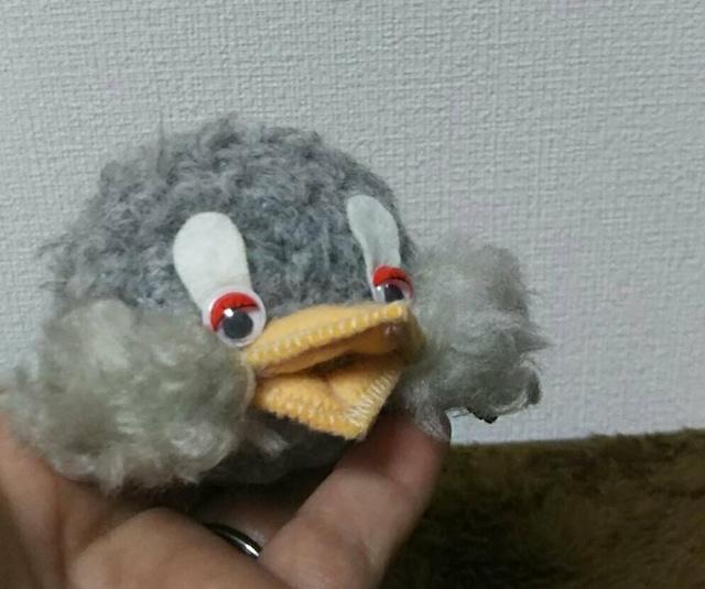 Studioyoyo: 灰色鳥ブローチ いつも一緒 小さくて可愛い♪