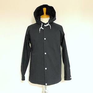 Herringbone Pattern Shirts Hoodie Black