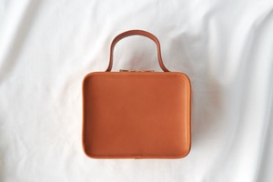 【LIMITED】Camel Leather Mini Book Bag -Earth Leather-