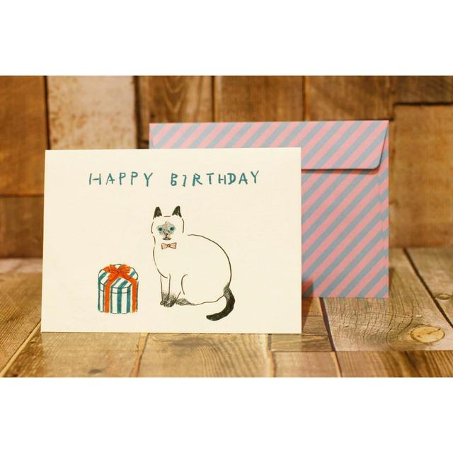 メッセージカード封筒&レターセット【猫/お誕生日おめでとう】/浜松雑貨屋 C0pernicus