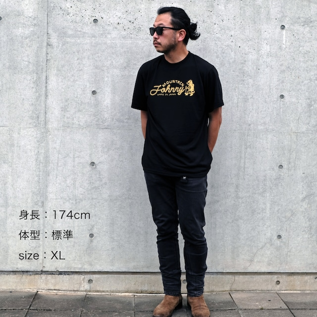 Dry Tee S/S(速乾・Logo・Black ver.)
