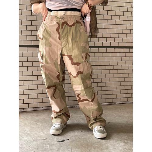 【sandglass】double waist camouflage pants /【サンドグラス】ダブルウエストカモフラージュパンツ