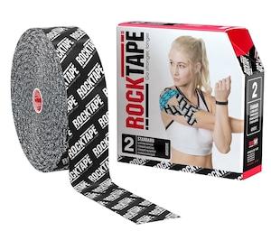 ロックテープ-32m-スタンダード / ROCKTAPE Standard BULK Black/White logo  5cm*32m