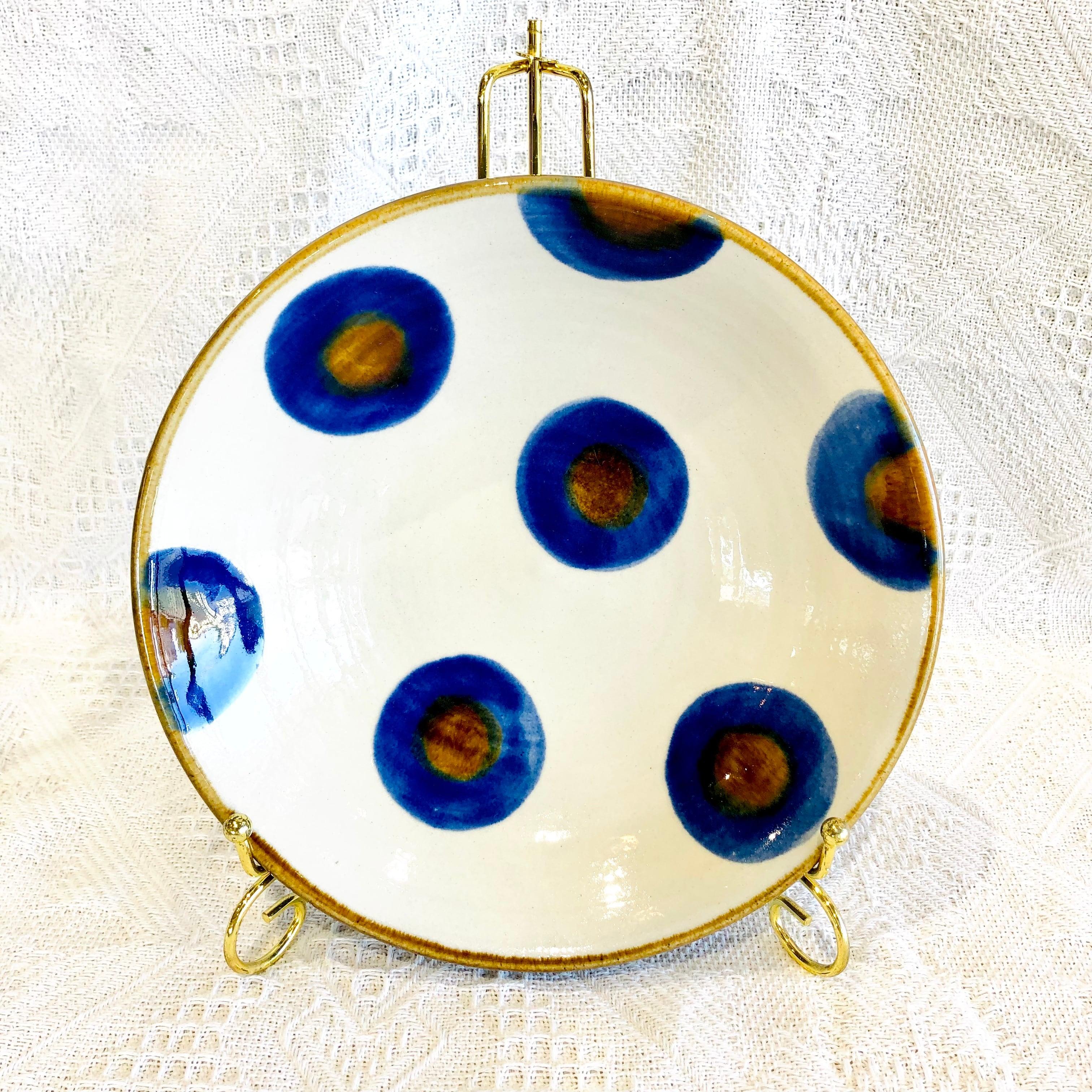 『育陶園』皿7寸 円染付