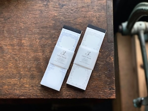【活版印刷】3pattern label book  classic【Royalblue&Silver / Bronze&Black】
