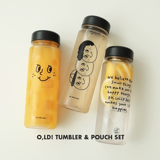 [OH,LOLLY DAY!] O,LD! タンブラー&ポーチセット (全3種)