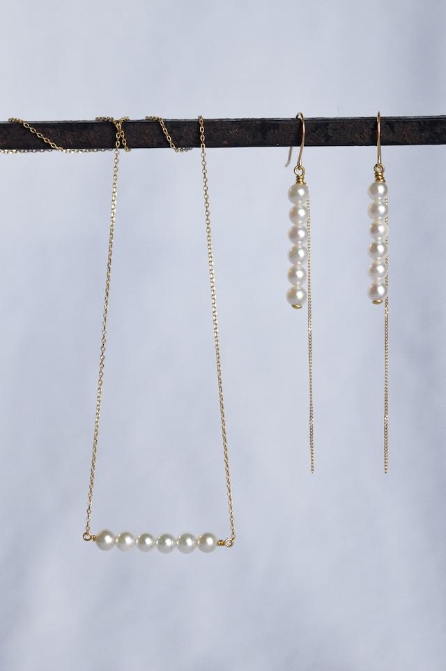 K18 Baby Akoya Pearl Necklace 18金ベビーアコヤ真珠ネックレス