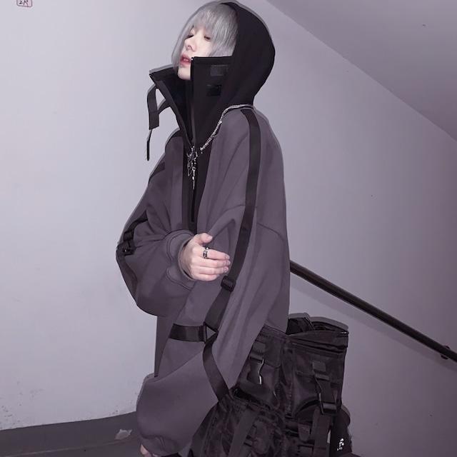 boys big hoodie gray