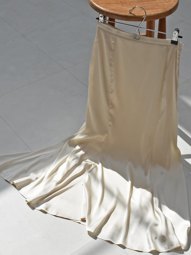satin mermaid skirt(ivory)