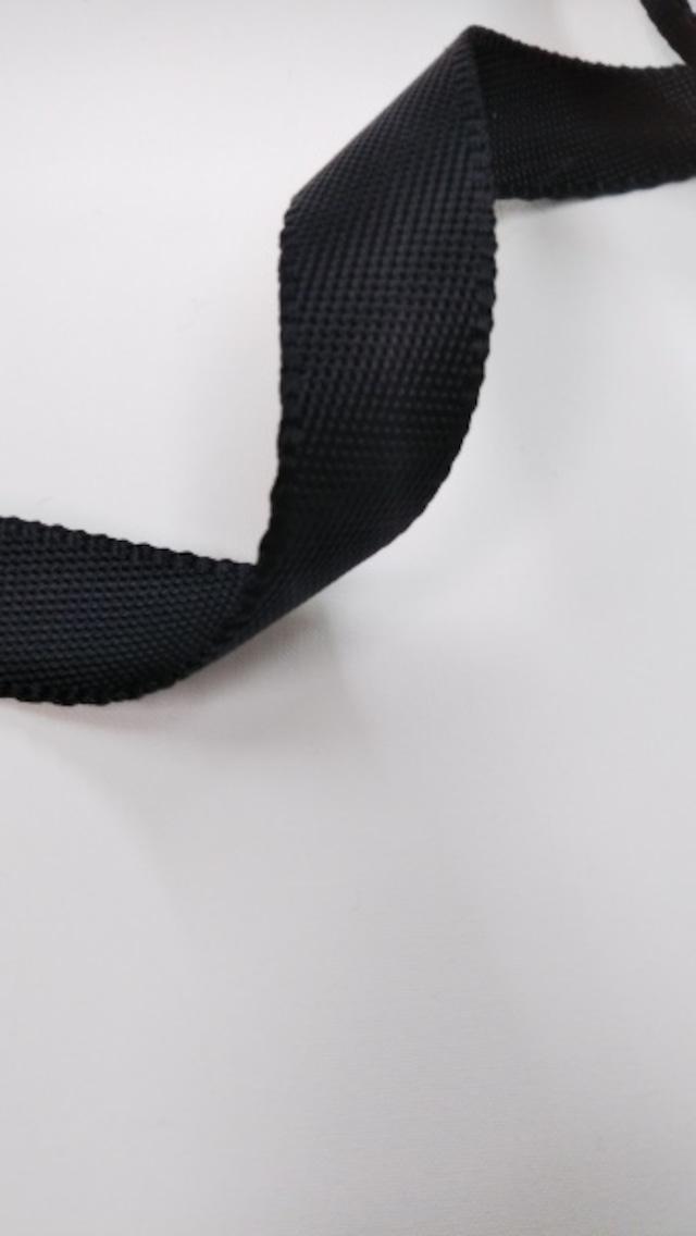 ナイロンテープ 耳付流綾織 20mm幅 黒 5m単位