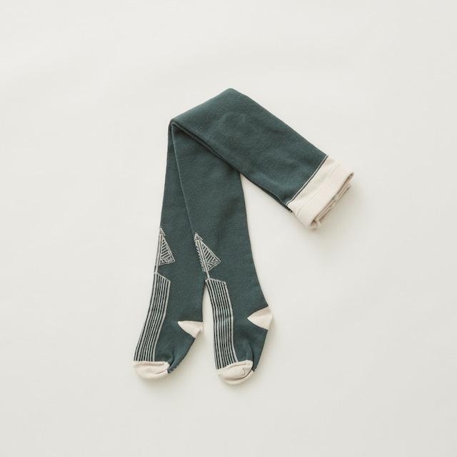 eLfinFolk  Abies tights  (sage green)  M/L elf-212A34 メール便可