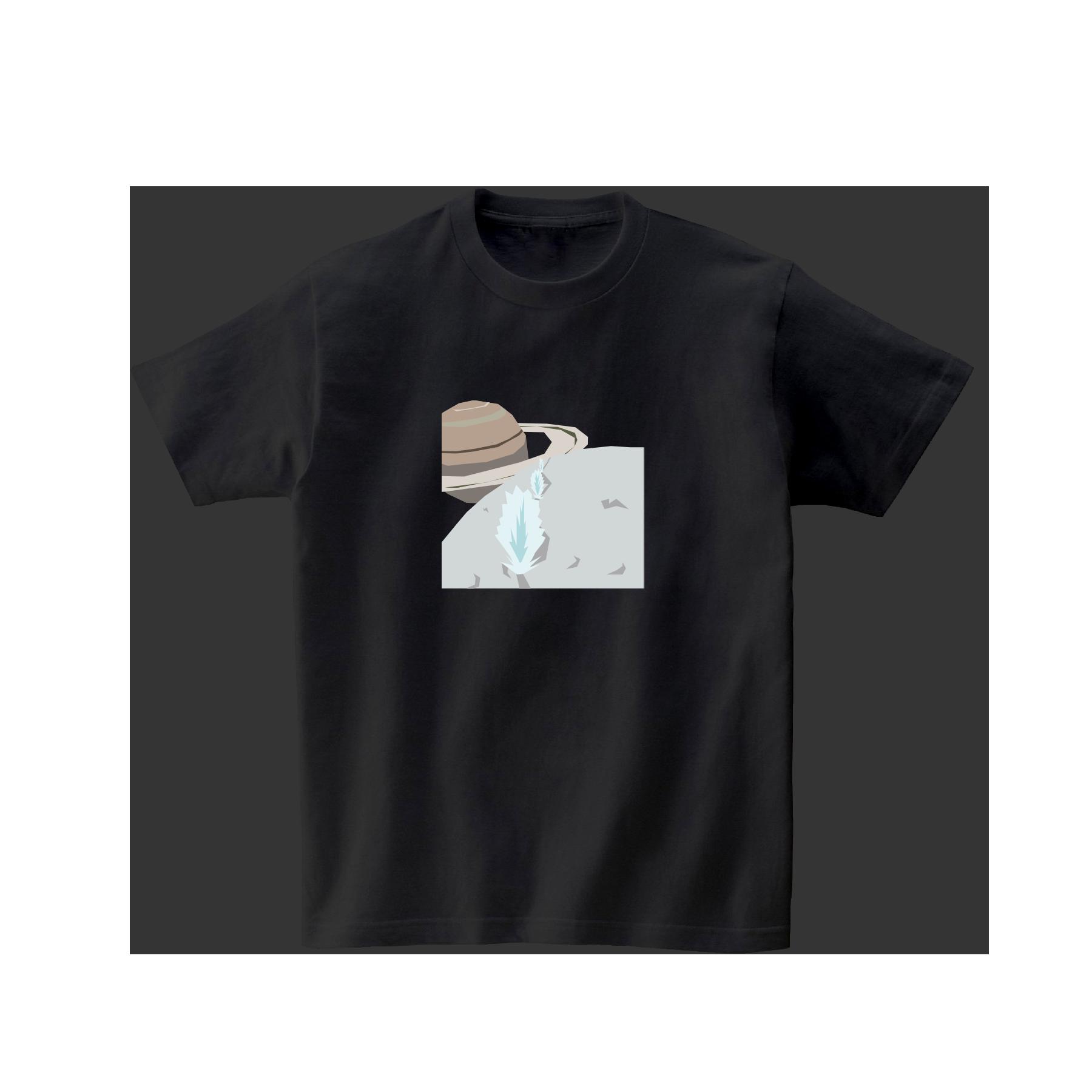 宇宙Tシャツ-エンケラドスの間欠泉