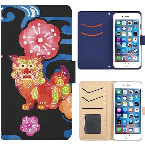 Jenny Desse iphone XS ケース 手帳型 カバー スタンド機能 カードホルダー ブラック(ブルーバック)
