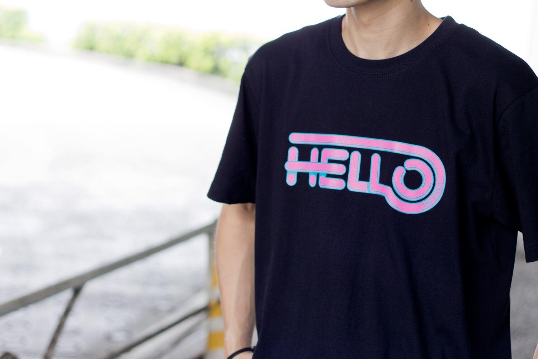 HELLO SS TEE #LIME