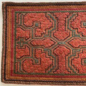 刺繍のカフェマット10 刺子風 南米シピボ族の手刺繍