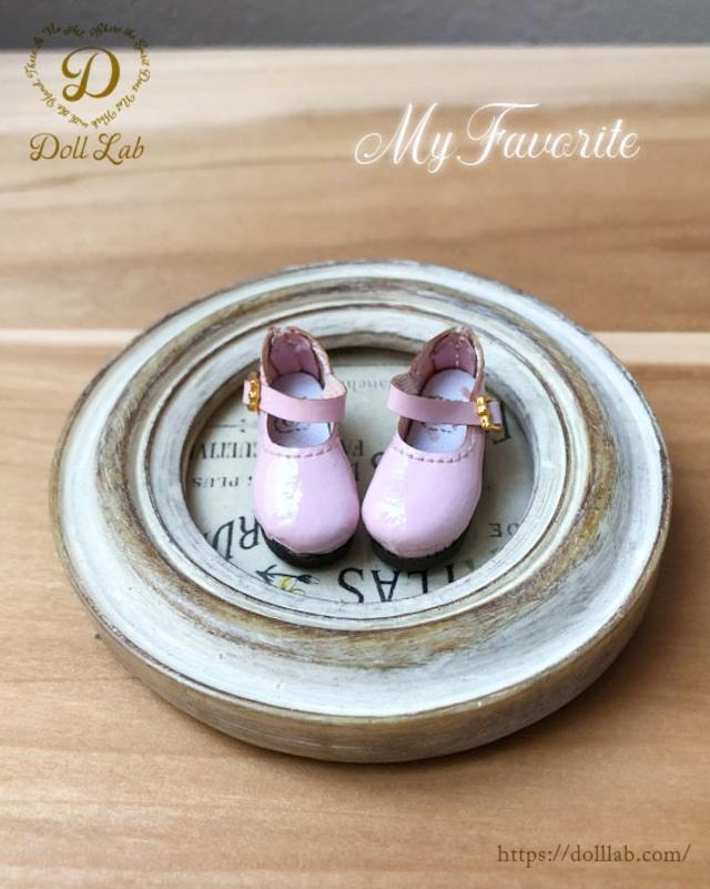 エナメルおでこ靴 ベビーピンク ドール シューズ ブライス D2006-PIN-30