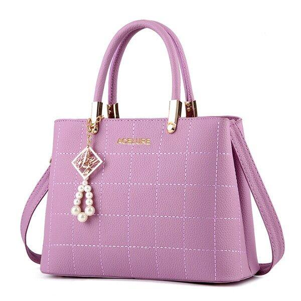 ハンドバッグレディース 財布サッチェルショルダーバッグ トートバッグ Purple
