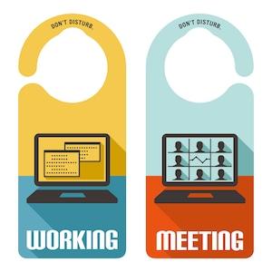 WORKING/MEETING[1187] 【全国送料無料】 ドアサイン ドアノブプレート
